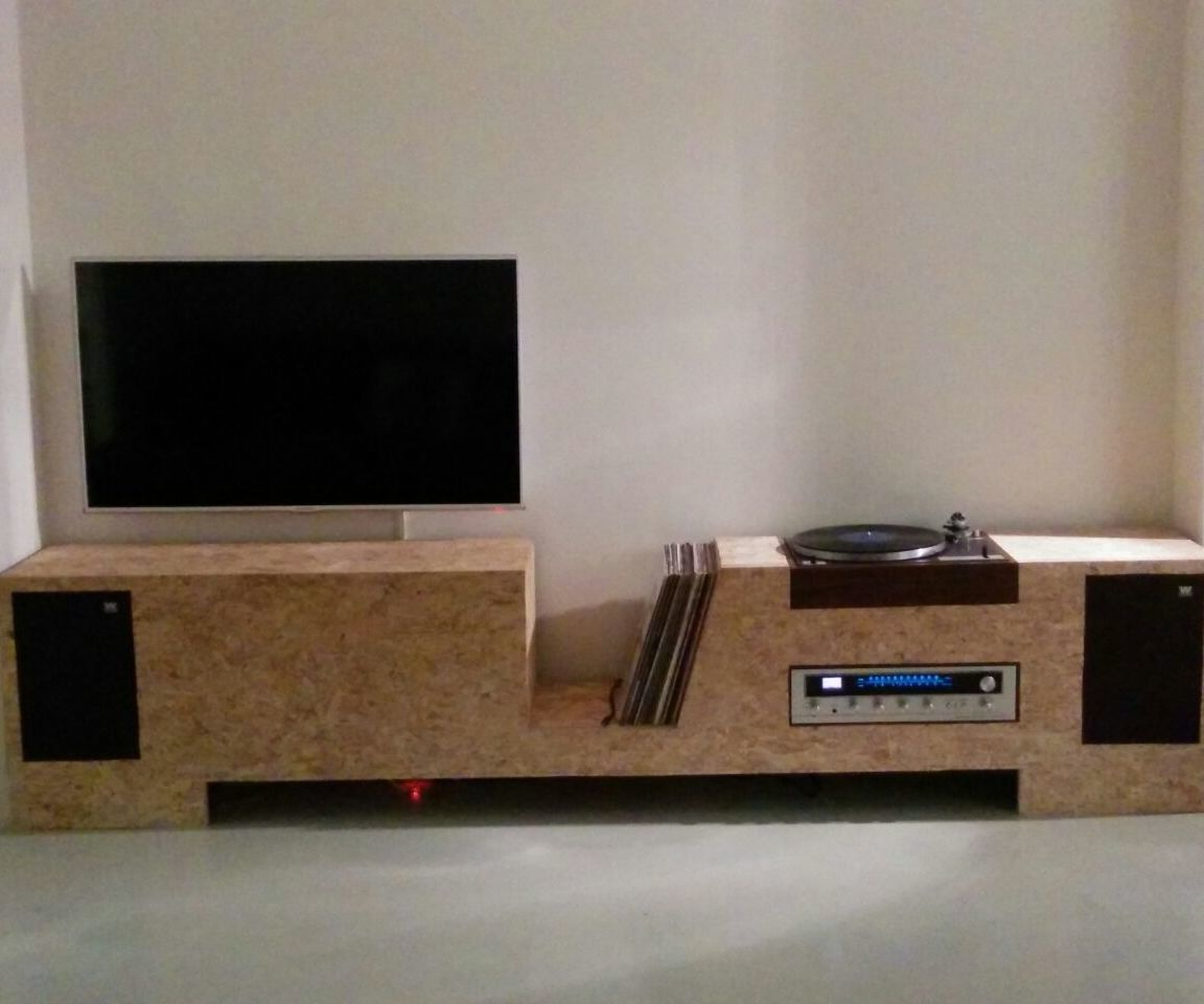 Diy Plywood Cabinets: Turntable Cabinet OSB