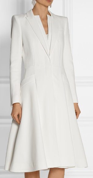 3e5baaddfdfc1 ALEXANDER MCQUEEN A-line crepe coat | Veshje in 2019 | Coat dress ...