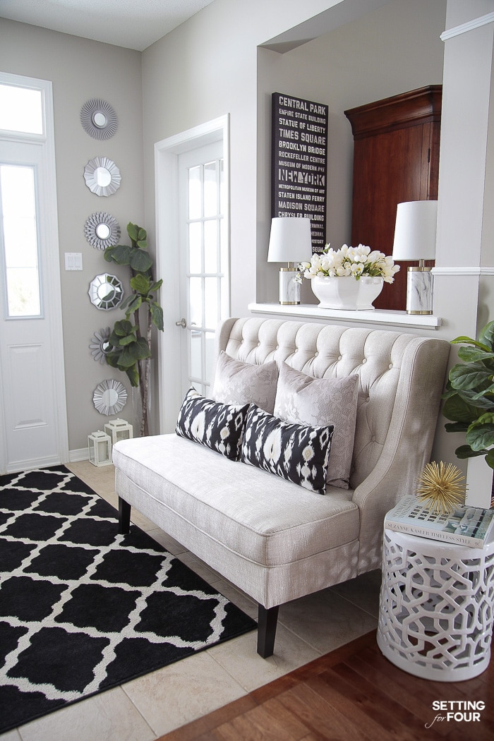 5 Simple Spring Entryway Decor Ideas In 2020 Family Room