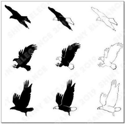54 ideas bird vector silhouettes etsy #bird   Bird ...