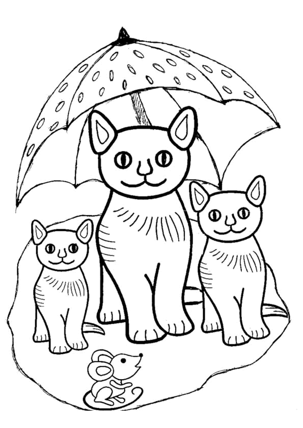 Quatang Gallery- Poesjes Paraplu Kleurplaat Met Afbeeldingen Kleurplaten Katten Poesjes