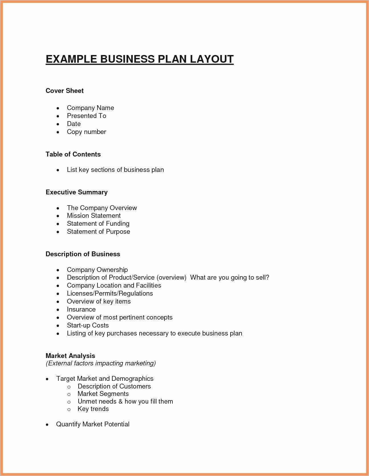 23 Business Plan Cover Sheet Template Business plan