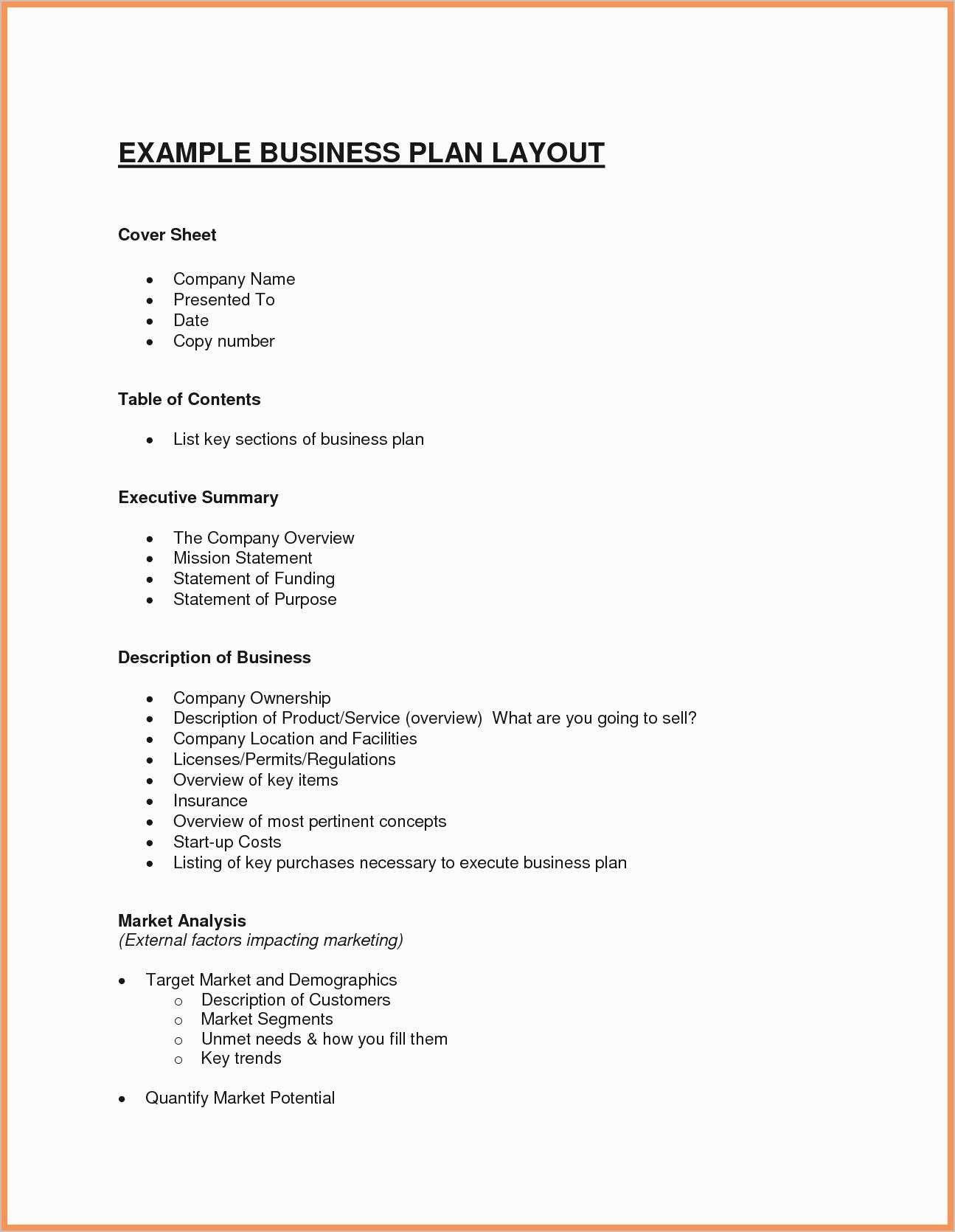 23 Business Plan Cover Sheet Template