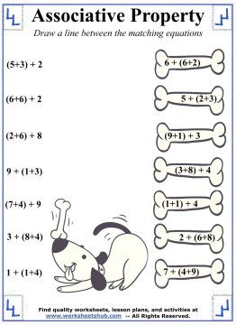 Associative Property of Addition Worksheet 5