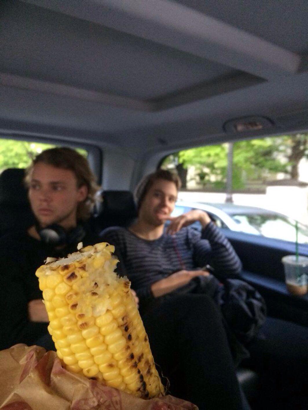 I like corn on a cob