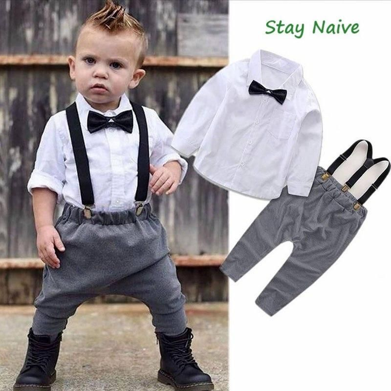 Kids Boy Clothes Clothing Outfits Sets Baby Boys Party Suits T-shirt Shorts