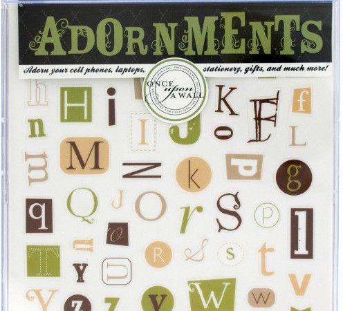alphabet craft adornment stickers Case of 24