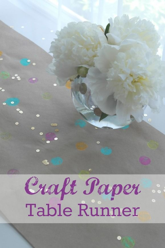 craft paper polka dot table runner diy