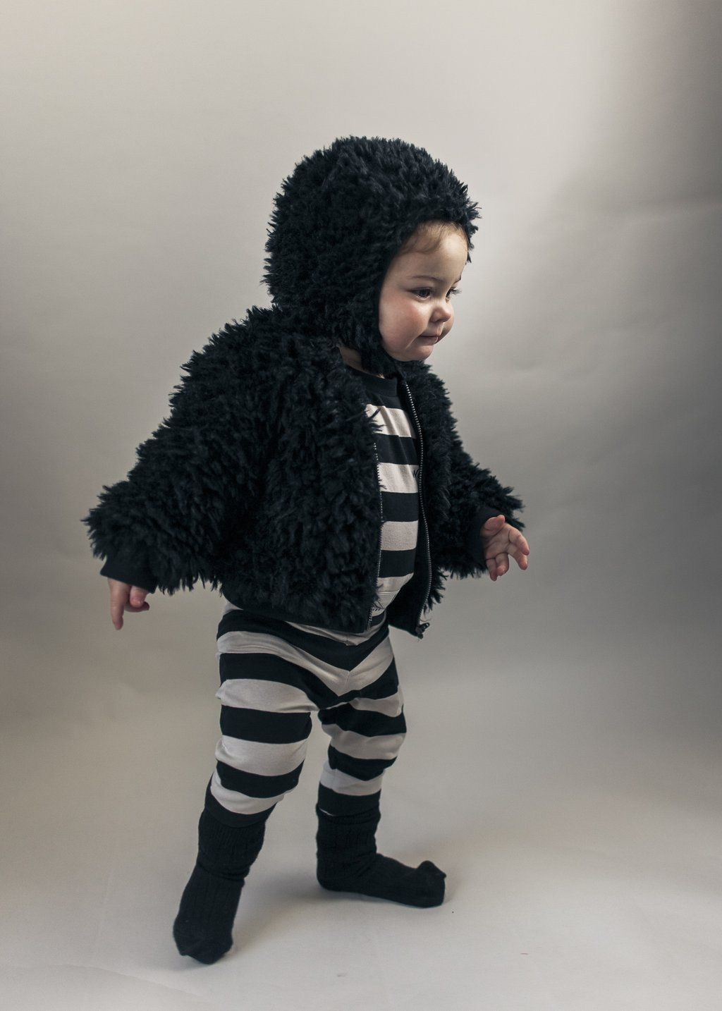 70a5e3536 Beau Loves - Furry baby jacket - black - Scout   Co Kids - AW18 ...