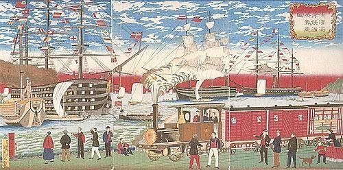 Benefits Of Industrialization Meiji Era Woodcut Meiji Era