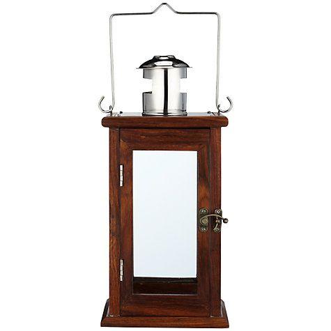 Buy John Lewis Wooden Lantern, Small Online at johnlewis.com
