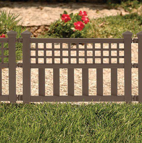 Amazon.com : Suncast GVF24 Grand View Fence, White : Outdoor Decorative  Fences :