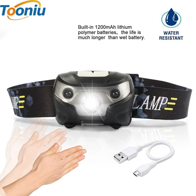 3000lm Mini Rechargeable Corps De La Lampe Led Motion Sensor Led De Velo Head Light Lampe De Camping En Pl Sensores De Movimiento Cuerpo En Movimiento Linterna