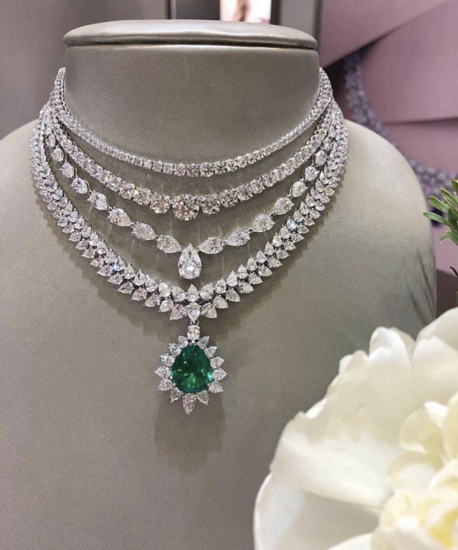 2c0301d8273c7 Pin by Haseeb on Jewellery   Jewelry, Real diamond necklace, Diamond ...