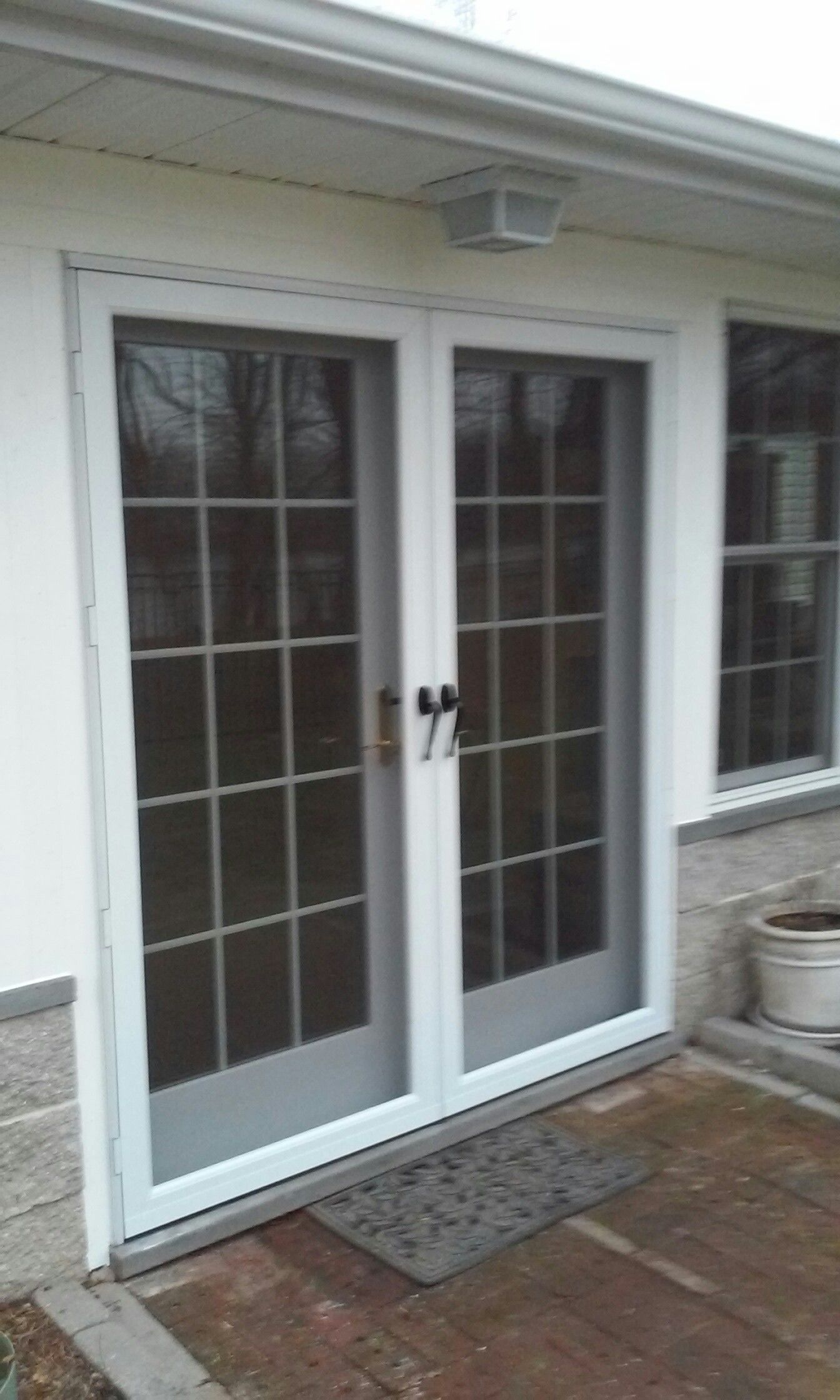Double Rear Patio French Doors Entry Installation Entry Doors