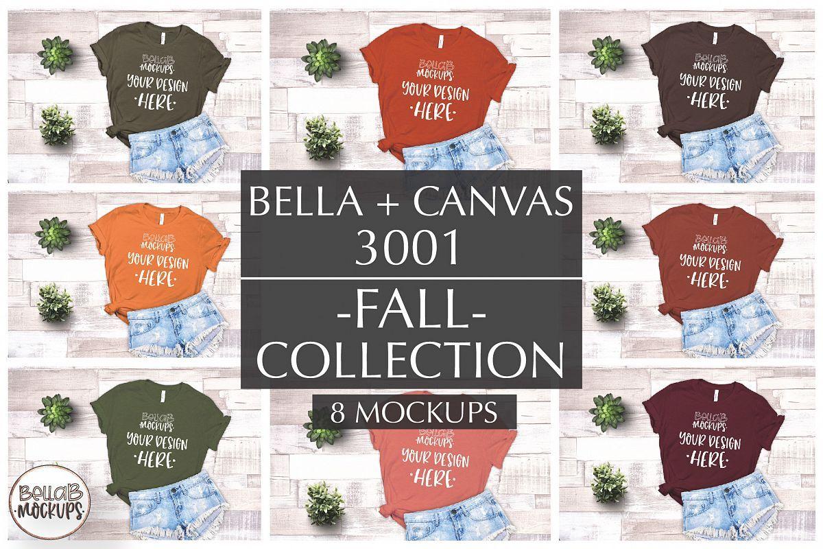Download Bella Canvas T Shirt Mockup Bundle 3001 Fall Autumn 291124 Clothing Design Bundles Mockup Tshirt Mockup Bella Canvas
