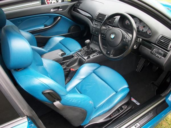 2001 bmw e46 m3 laguna seca blue and black interior seats