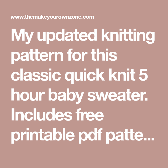 Another 5 hour baby sweater knitting pattern baby sweaters another 5 hour baby sweater knitting pattern dt1010fo