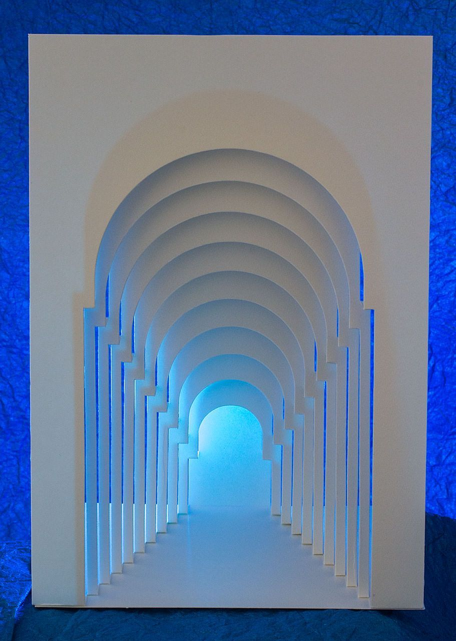 Repetition Popup Card Shop Card Popup Repetition Shop In 2020 Paper Sculpture Paper Architecture Geometric Origami