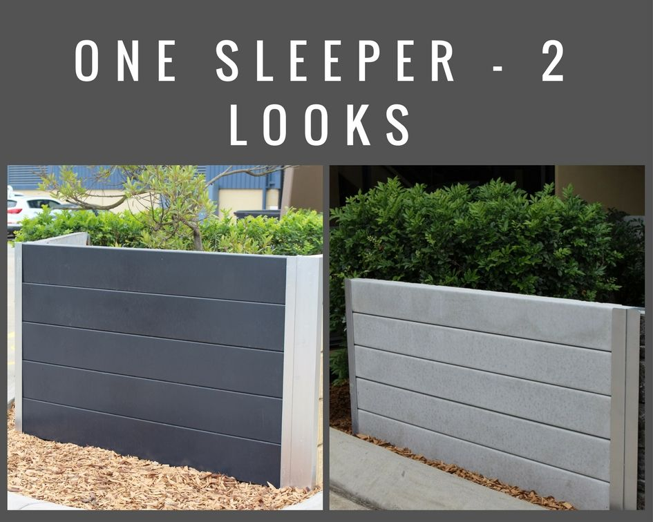 The Pioneer Smooth Grey Concrete Sleeper Painted Unpainted For More Information Visit Aus Concrete Sleepers Sleeper Retaining Wall Backyard Retaining Walls