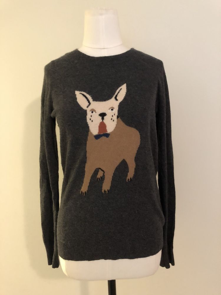J Crew Boston Terrier French Bulldog Wool Blend Womens Sweater Size Xs Casual Ca Fashion Clothing Shoes Accessori Sweaters Sweaters For Women Sweater Sizes