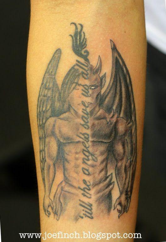 Half Angel Half Demon Tattoo Designs Devil Tattoo Designs Everyones