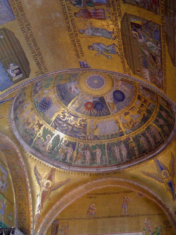 Mosaico describe a Dios creando el mundo, la Basílica de San Marcos ...