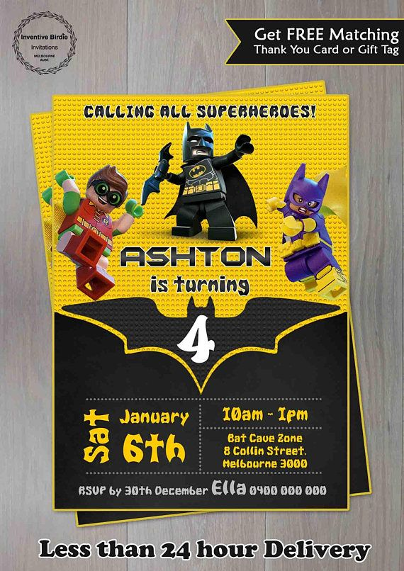 Invitation Lego Interesting Lego Birthday Card Unique Lego