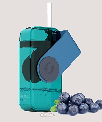 Asobu Juicy Drink Box The Ultimate Unbreakable Reusable 10oz Water Bottle for Kids (Blue) >>> You can get more details by clicking on the image.