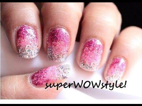 Ombre Nails Without Sponge No Sponge Gradient Glitter Nail Art