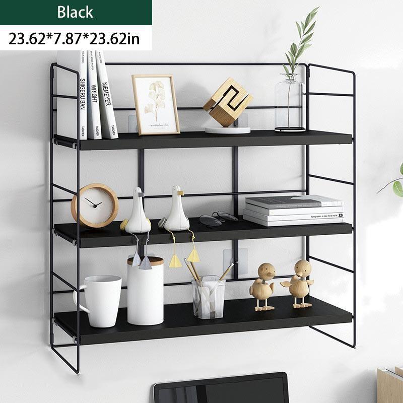 Wall Shelf - Triple layer / Black