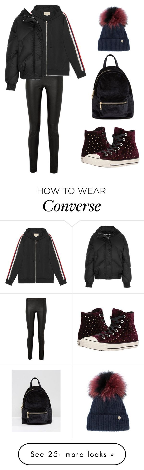 """Untitled #1912"" by needlework on Polyvore featuring The Row, Gucci, Ienki Ienki, Qupid, Converse and Yves Salomon"