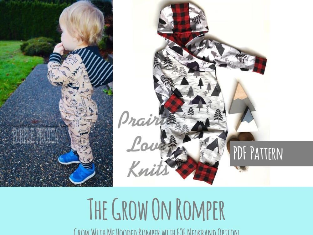 7f6006e88b2d3 Apple Tree Grow On, Grow With Me Romper, Kids Sewing Pattern ...