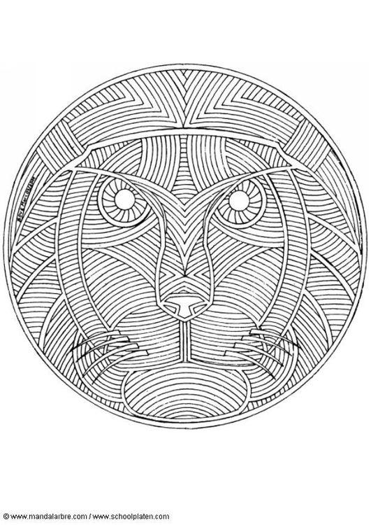 Coloring Page Lion Mandala Img 4551 Mandalas Paginas Para Colorear Mandalas Geometricas