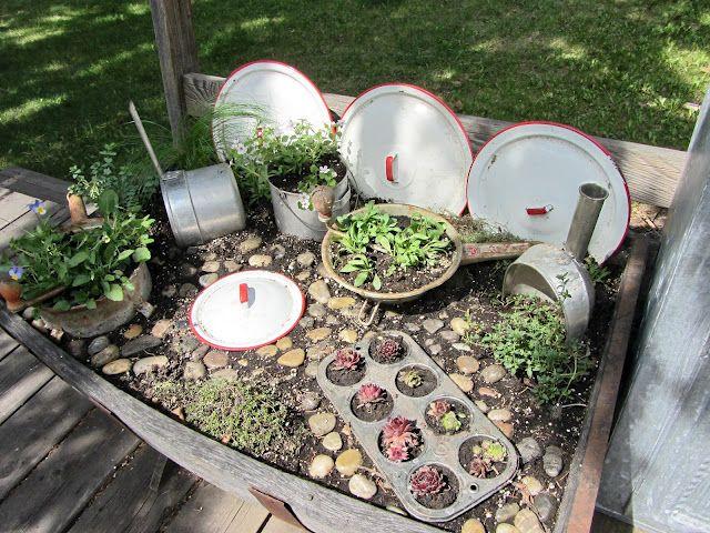 Organized Clutter: Kitchen Fairy Garden