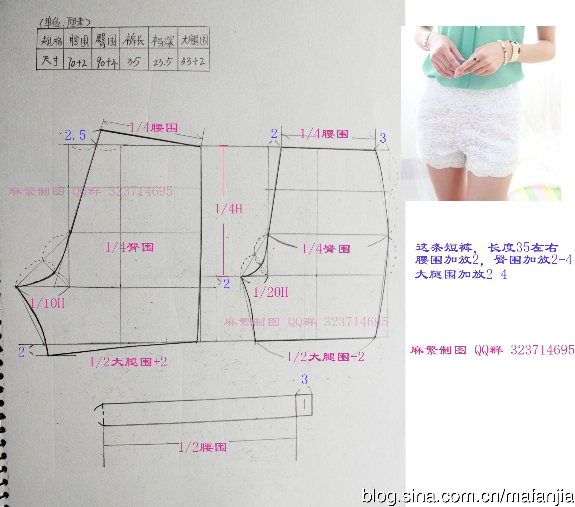 shorts | princesas | Pinterest | Patrones, Costura y Molde