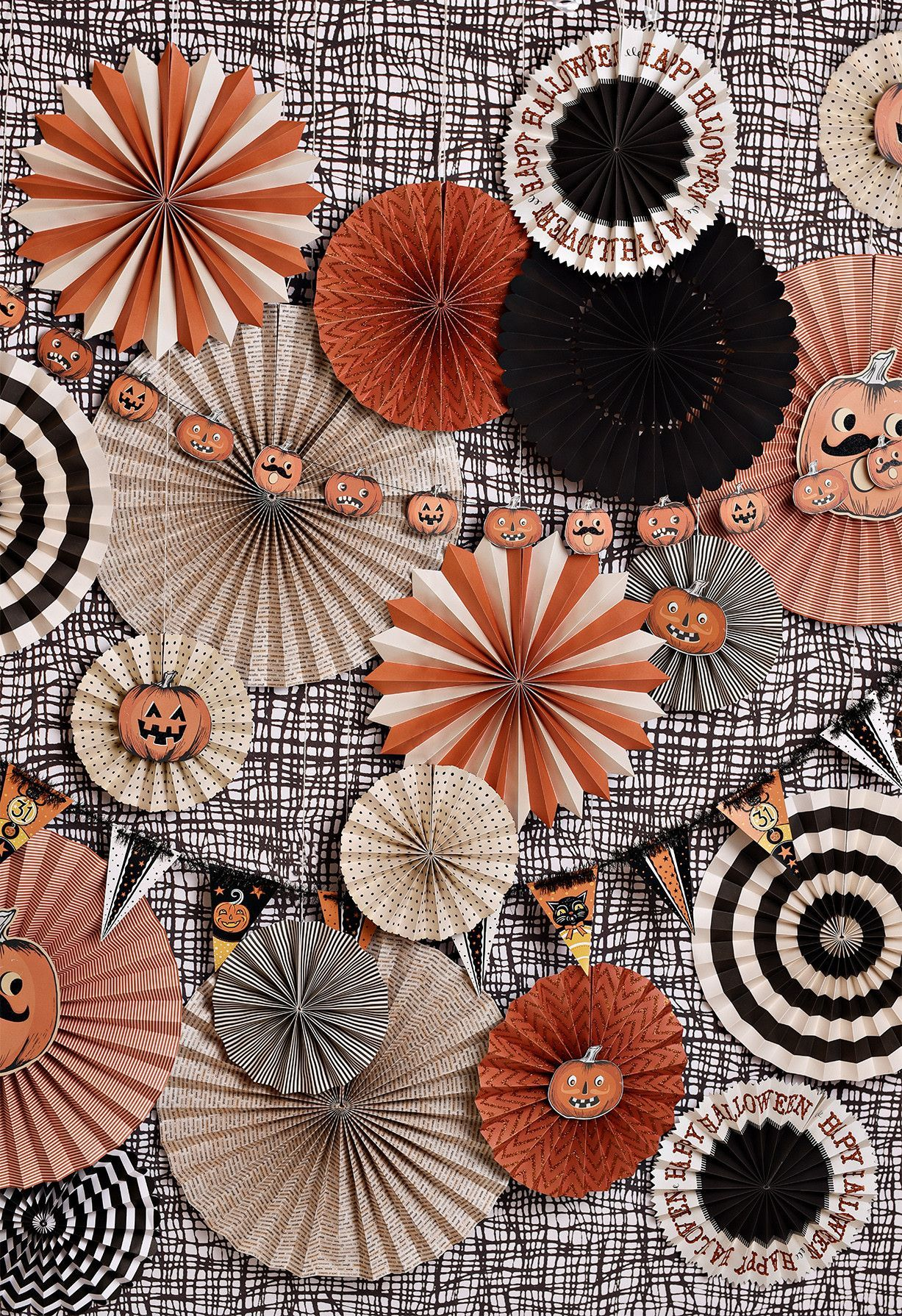 Fall into the season with Halloween colors delivered to your door when you buy the Vintage Halloween backdrop. Backdrop fans and banners by My Mind's Eye. http://www.mymindseye.com/ Add variety and st