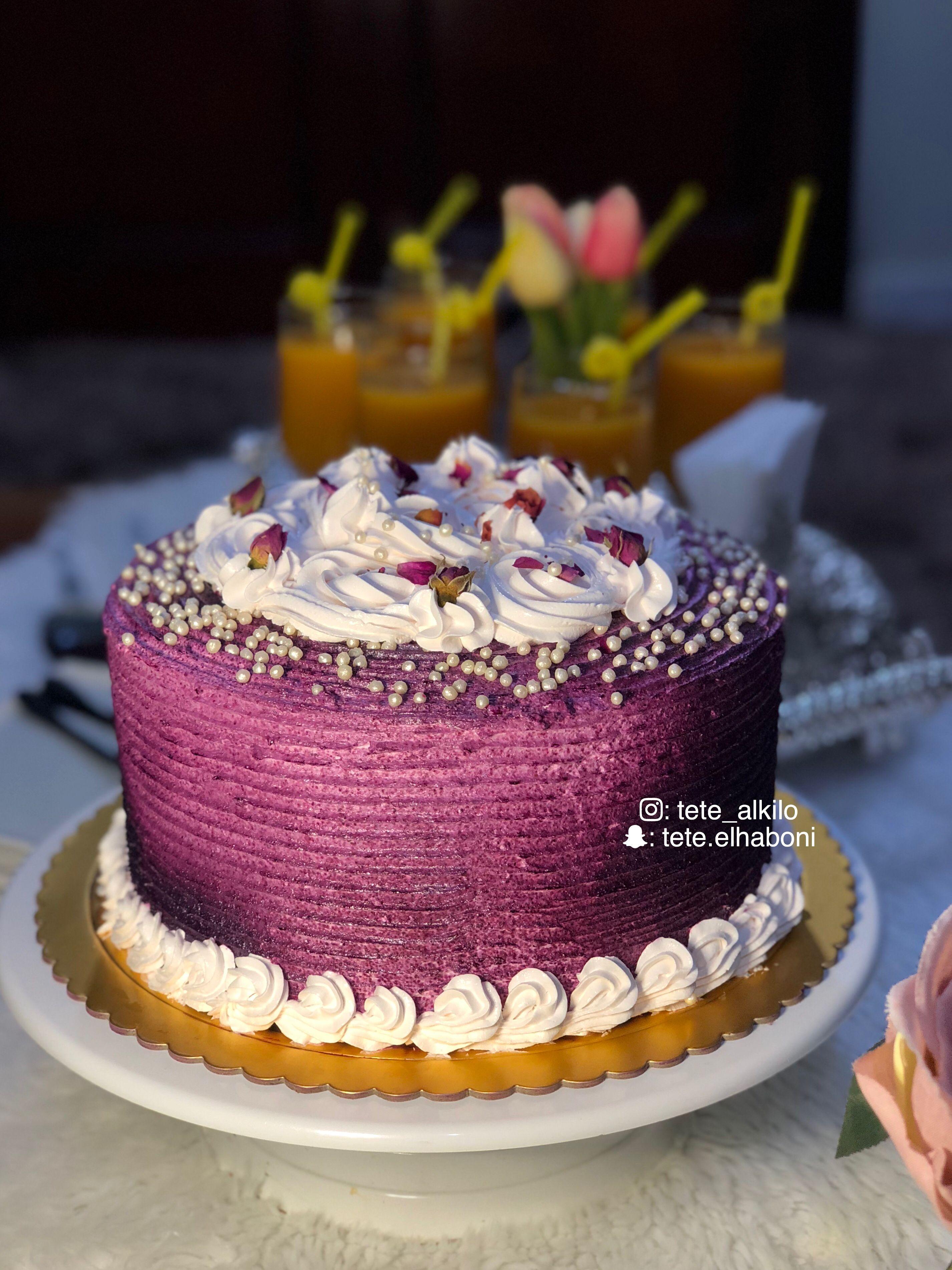 كيك Cake Purple Desserts Cake Food