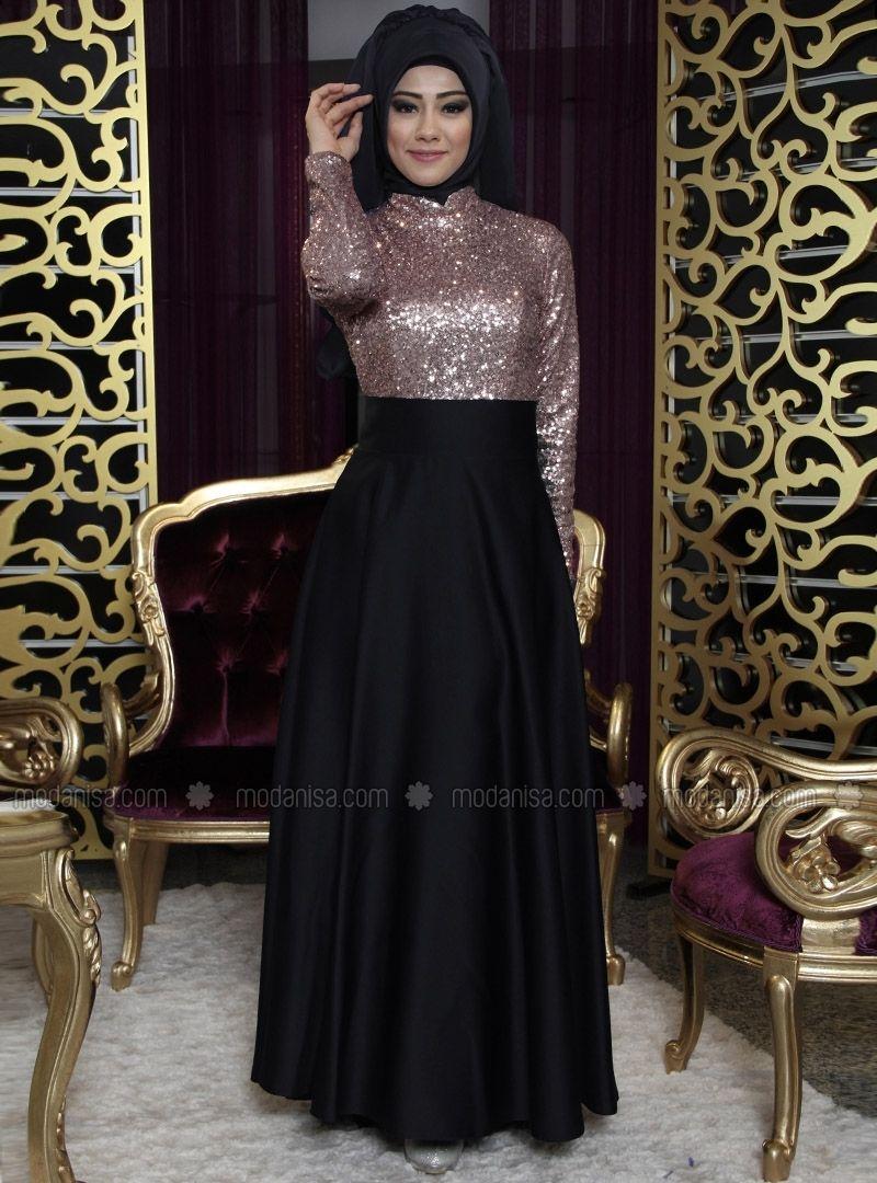 6fff01e1ac Fully Lined - Black - Polyester - Evening Skirt - İz Otantik ...