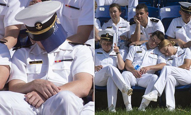 Us Naval Academy Seniors Caught Sleeping Before Graduation Ceremony Naval Academy United States Naval Academy American Military History