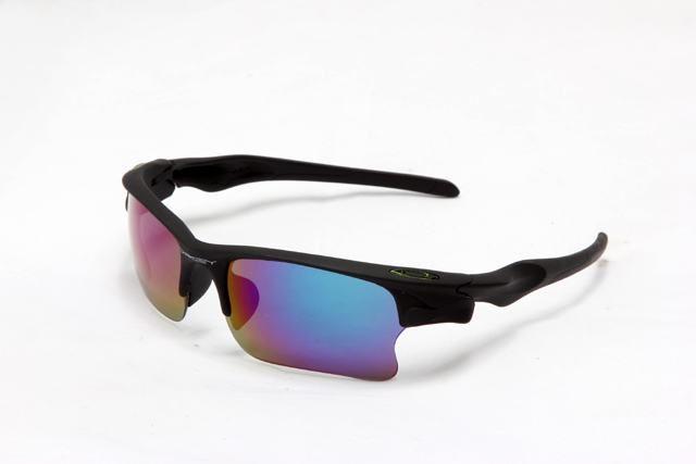 b5ace4c0a9b 1218-Oakley-Fast-Jacket-Sunglass-Black-Frame-Blue-Lens