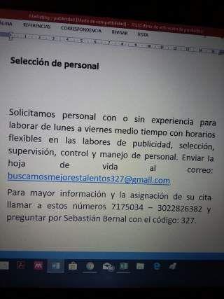 Selección de personal (Bogotá)
