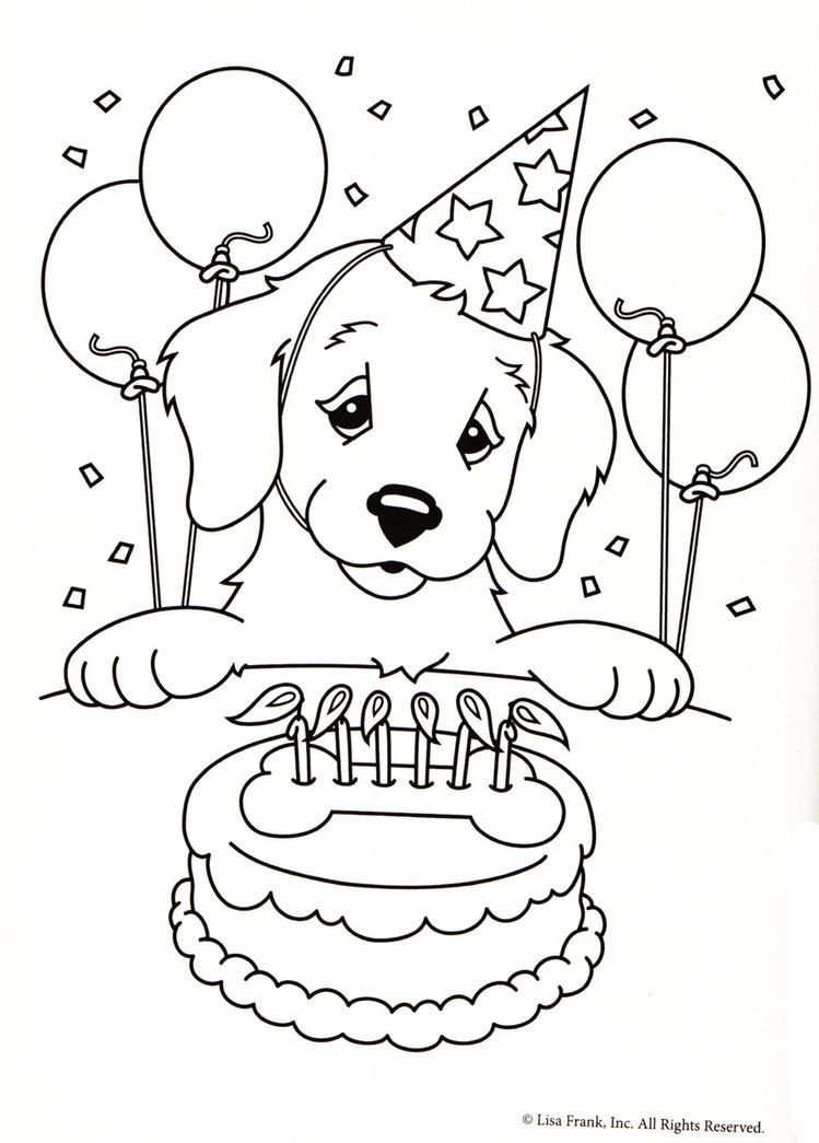 Puppy coloring page for kids 2019 | Demenz | Pinterest | Coloring ...