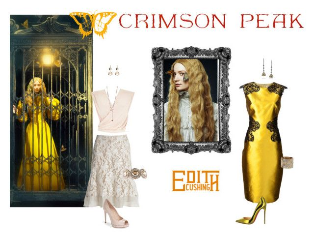 """Indulge Your Dark Side with Crimson Peak : Contest Entry"" by shai-shai-rock ❤ liked on Polyvore featuring Lela Rose, Christian Louboutin, NIC+ZOE, Mark Broumand, Fendi, River Island, Miu Miu, Eddie Borgo, Dorothy Perkins and vintage"