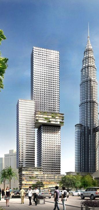Angkasa Raya Former Aurora Tower Kuala Lumpur Malaysia By Buro Ole Scheeren 65 Floors Skyscraper Architecture Futuristic Architecture Unique Architecture