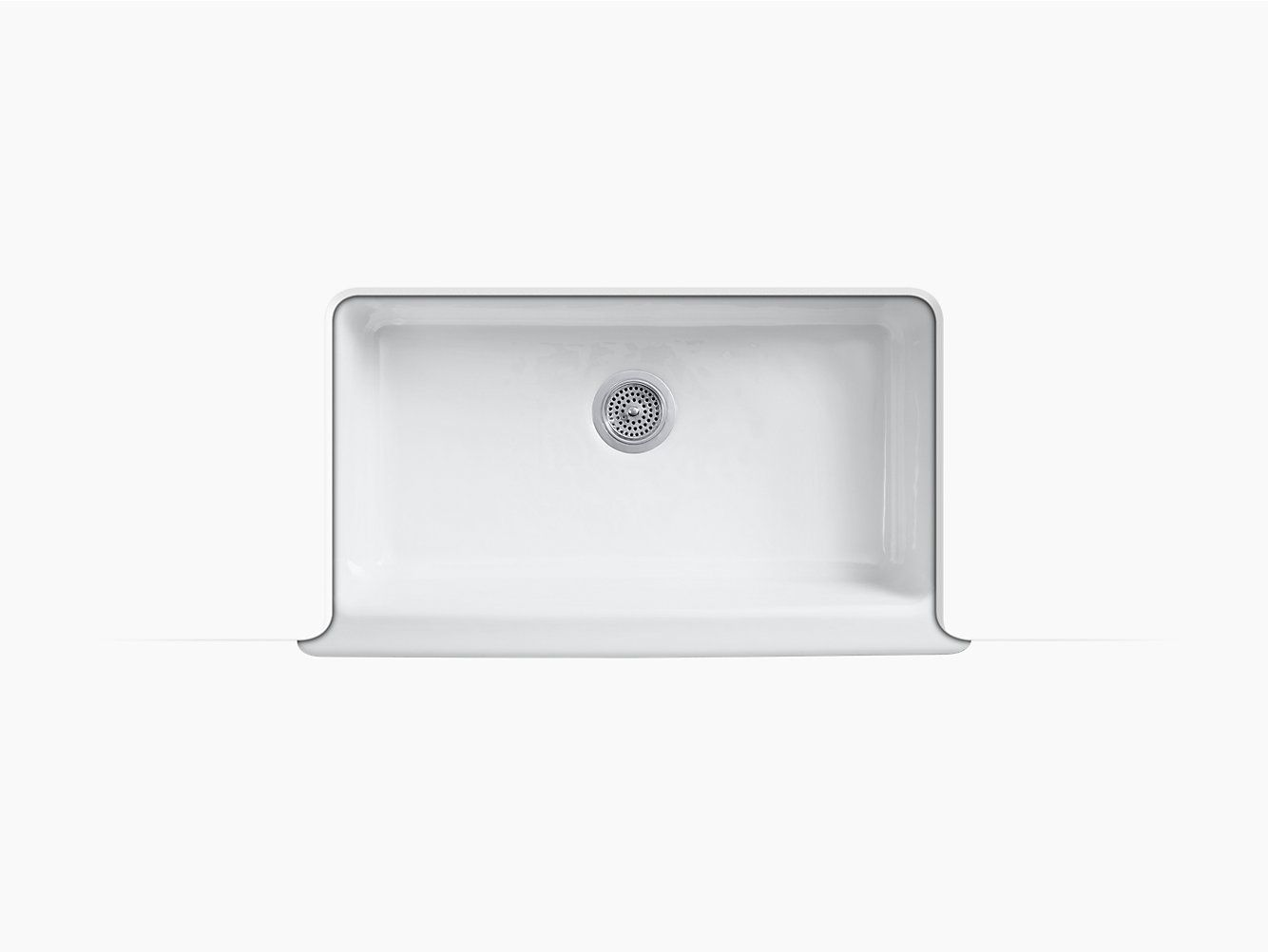 K 6546 4u Dickinson Apron Front Kitchen Sink With Four Faucet