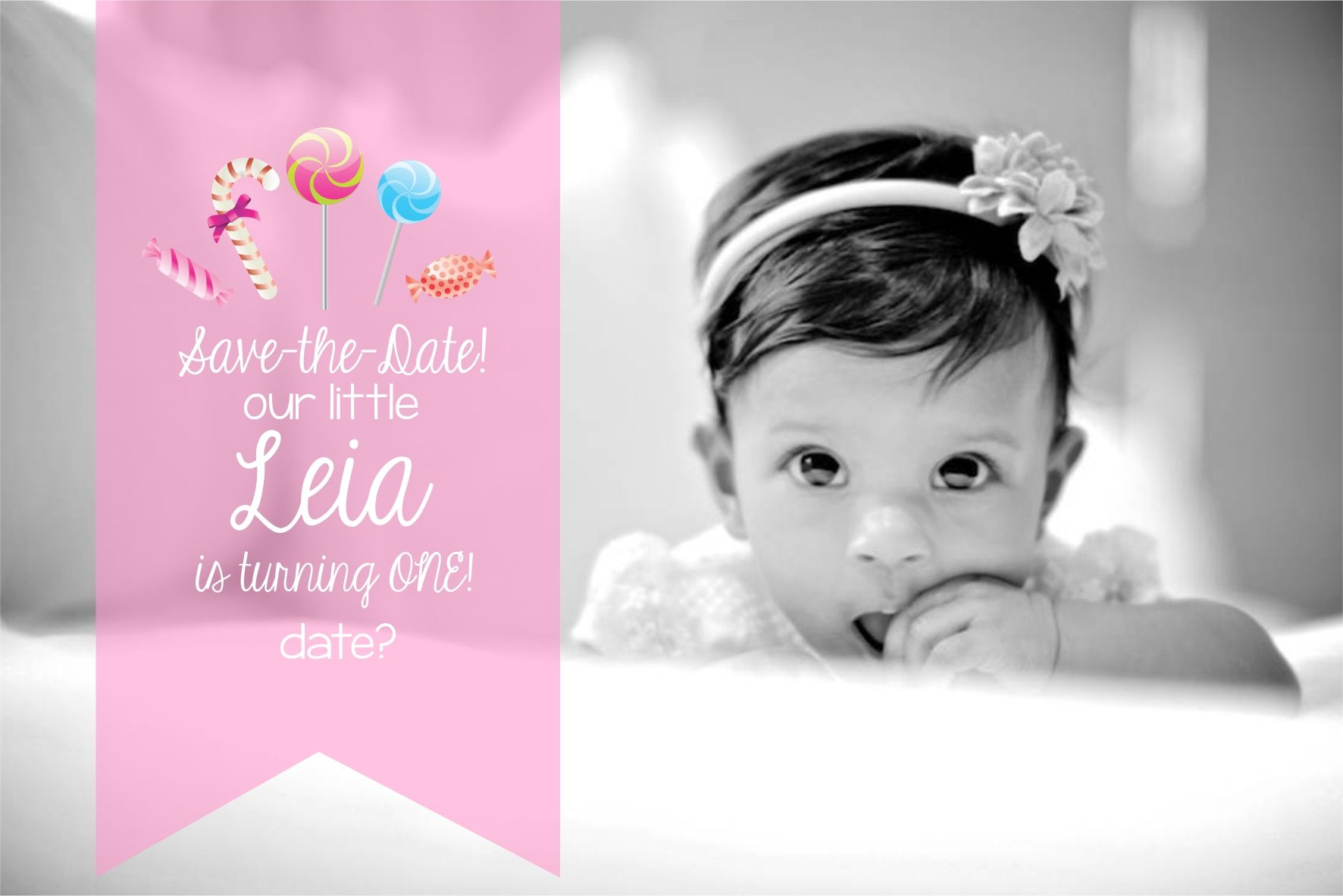 Candyland Photo Save The Date For First Birthday Care Bears Birthday Party 1st Birthday Girls Care Bear Birthday Save the date birthday template