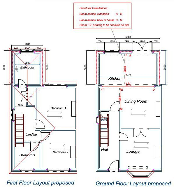 1930s Semi Detached House Rear Extension Drawings Google Search