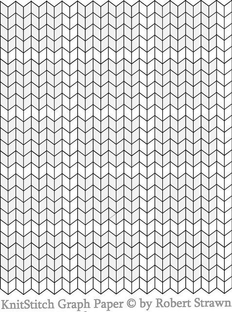 Knitting Design Graph : Herringbone stitch graph paper google search