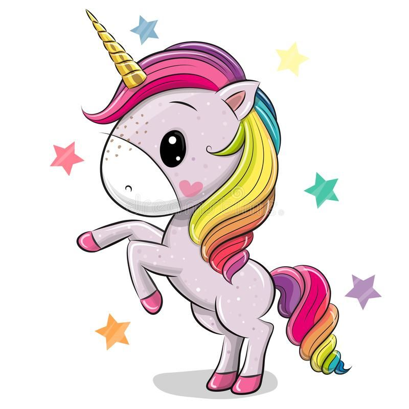 Cartoon Unicorn Isolated On A White Background Cute Cartoon Unicorn Isolated On A White Background Ve Cartoon Unicorn Unicorn Painting Kids Cartoon Characters